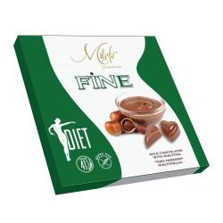 MILETE FINE конфеты темный шоколад с сесными орехами и мальтитолом 80г