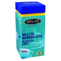 Regalo Regional FBOP melna tēja Hills of Nuwara Eliya plantācija 200g