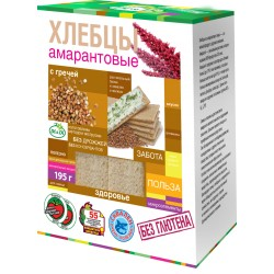 Di&Di Amaranth CRISPBREAD with Jerusalem artichoke and buckwheat Extruded 195g Gluten Free