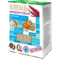 Di&Di Amaranth CRISPBREAD with Jerusalem artichoke and garlic Extruded 195g Gluten Free