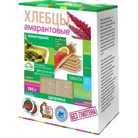 Di&Di Amaranth CRISPBREAD with Jerusalem artichoke and kelp Extruded 195g Gluten Free