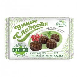 Умные сладости МАРМЕЛАД барбарис со стевией, глазированный 220 г Без добавления сахара.