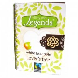 Legends tēju leģendas Lover´s Tree White Tea Apple balta tēja ar ābolu piramīda maisiņā 2g