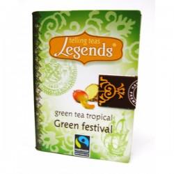 Legends Green Festival Green Tea Tropical tea bag pyramid 2g