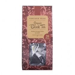 Vintage Teas Organic Black Tea Pyramid bio melnā tēja zīda piramīdas maisiņā 20 gab. 50g