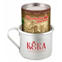 Dāvanu komplekts VEKA Krasnodaras melna lapu tēja ar armijas krūzi