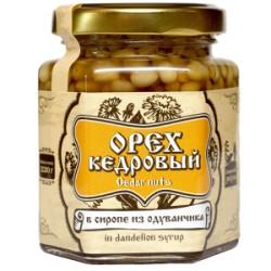 Кедровые орехи в сиропе из одуванчика 110 г Сибирский Знахарь