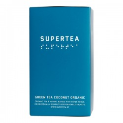 Teministeriet Supertea Green Tea Coconut Organic 20 Tea Bags