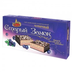 "Glazed blueberry wafer cake ""Old Castle"" 250 g Veresk"