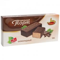 "Glazēta vafeļu torte ""Šokolāde"" 190 g Veresk"
