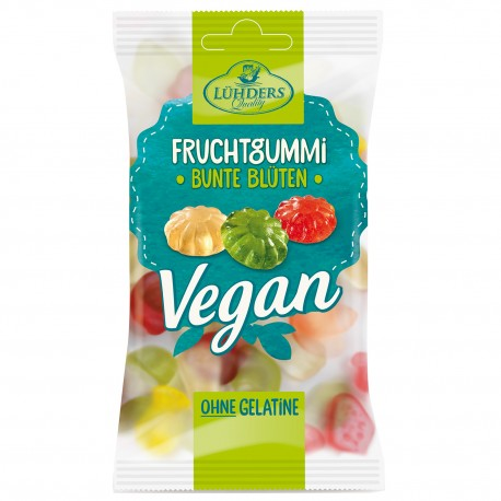 Vegan Fruit Gum Colorful Flowers soft candies 80g