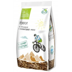 Gluten-free pasta from buckwheat flour EAT HEALTHY horns 250g