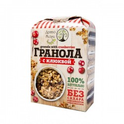 Granola with cranberries gluten-free and sugar-free 400 g