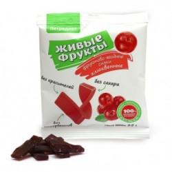 Uzkodas augļiem un ogām uz fruktozes dzērveņu 35 g