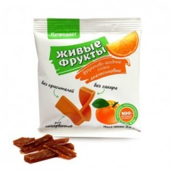 Snacks fruit and berry on fructose orange 35 g