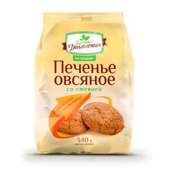 Oatmeal cookies with stevia and vitamin and mineral complex 340g