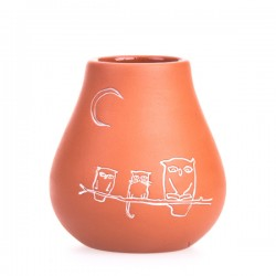 Pizca del Mundo Matero Fortaleza clay pot for yerba mate 300ml