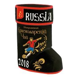 Krasnodar Gift set football boot with leaf tea