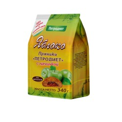"Petrodiet Gingerbread ""Apple"" with fructose filling 340g"