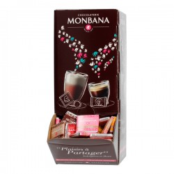Monbana assortes chocolate squares 200 pcs 800g