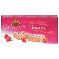 "Strawberry cream wafer cake ""Old Castle"" 220 g Veresk"