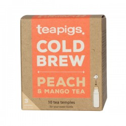 teapigs Peach & Mango Cold Brew tea pyramid 10 pcs