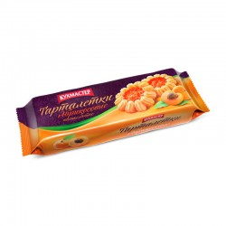 """Butter cookies """"Apricot tartlets"""" with apricot jam 240 g"""