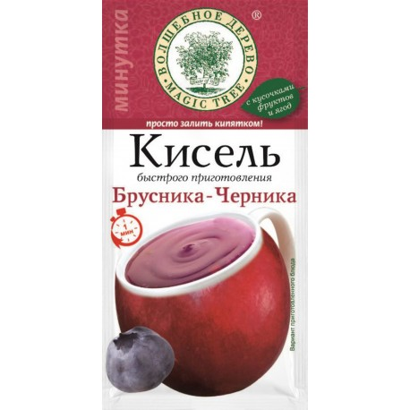 "Instant kisel drink ""Lingonberry + Blueberry"" 30g"