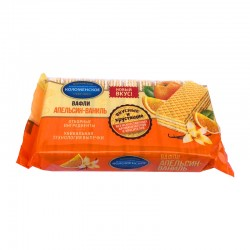 """Vafeles """"Kolomenskoe"""" ar apelsīnu-vaniļas garšu 200g"""