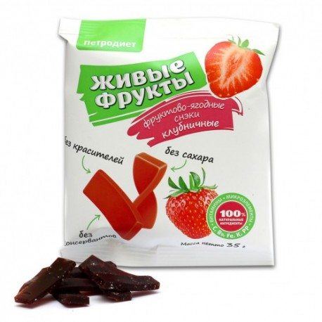 Petrodiet Snacks fruit and berry on fructose strawberry 35 g