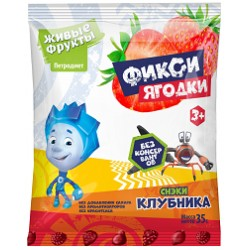 Fiksiski Snacks fruit and berry on fructose strawberry 35 g