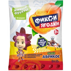Fiksi Snacks fruit and berry on fructose apricot 35 g