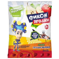 Fiksi Snacks fruit and berry pear-apple 35 g