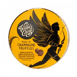 Willie's Cacao - Praline Truffles Dark Chocolate with Marc de Champagne 110g