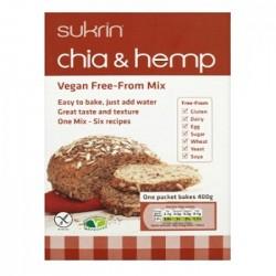 Смесь для выпечки хлеба Sukrin с семенами чиа и конопляным белком, 250 г
