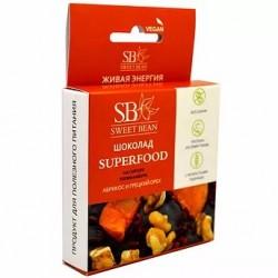 Sweat Bean chocolate on Jerusalem artichoke syrup, apricot and walnut SUPERFOOD 45g