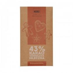 Manufaktura Czekolady - Chocolate 43% MANU - Gingerbread 50g