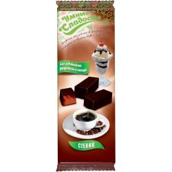 Gudrie saldumi KONFEKTES ar stēviju, želejas, ar kafijas-plombīra garšu 105g