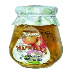 """Marmalade in a glass jar """"With lime and ginger"""" 300g"""