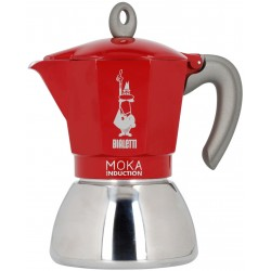 Bialetti Moka Induction 4 cup Red 160ml
