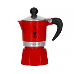 Bialetti Coffee Pot Rainbow 3 Cup 270ml Red