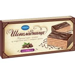 "Glazed wafer cake ""Шоколадница"" classic 240g"