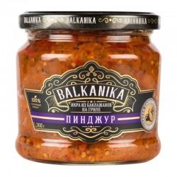 "Eggplant caviar ТМ ""BALKANIKA"" from grilled eggplant ""Пинджур"" 360g"