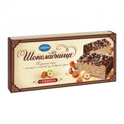 """Glazed wafer cake """"Шоколадница"""" with hazelnuts 270g"""