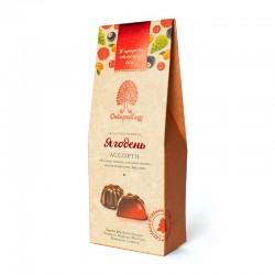 """Ягодень"" assorted jelly sweets raspberry, sea buckthorn, pine cone, lingonberry, currant 85g"
