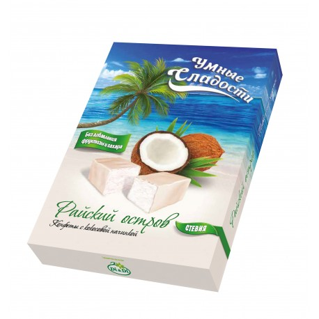"""Smart sweets CANDIES with coconut filling """"Paradise Island"""" 90g"""