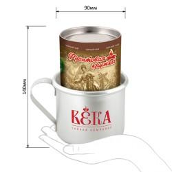 Gift Set Army Mug - Krasnodar black leaf tea in a tube with a mug