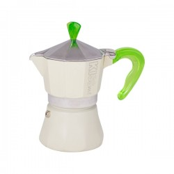 G.A.T. Kiss Me 1tc Green Moka Express coffee pot (Italy)