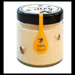 Cream honey with pine cone...