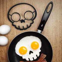 Silicone egg mold Skull